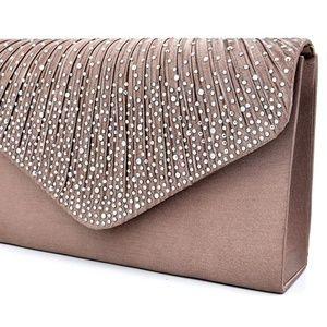Women Evening Envelope Handbag Party Bridal Clutch